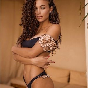 Leshadi Deira Black Bikini Set S $162